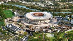 Indosport - Rancangan stadion baru AS Roma.