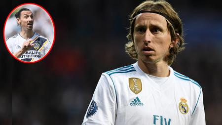 Playmaker real Madrid, Luka Modric (Insert: Zlatan Ibrahimovic). - INDOSPORT