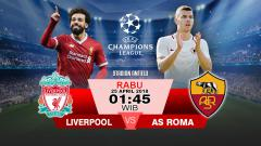 Indosport - Liverpool vs AS Roma.