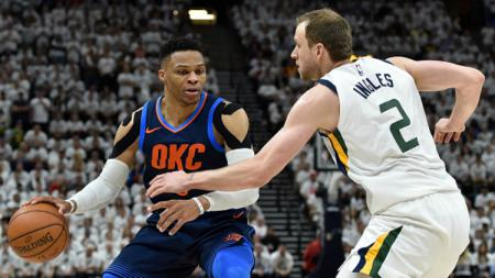 Utah Jazz vs Oklahoma City Thunder. - INDOSPORT
