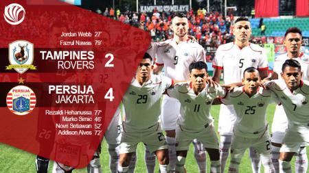 Tampines Rovers vs Persija. - INDOSPORT
