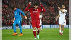 Indosport - Mohamed Salah saat melakukan selebrasi