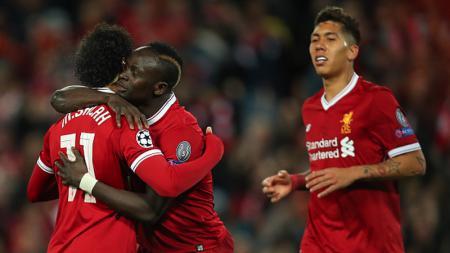 Klub Liga Inggris, memiliki trio maut di lini depan yakni Mohamed Salah, Roberto Firmino, dan Sadio Mane. - INDOSPORT