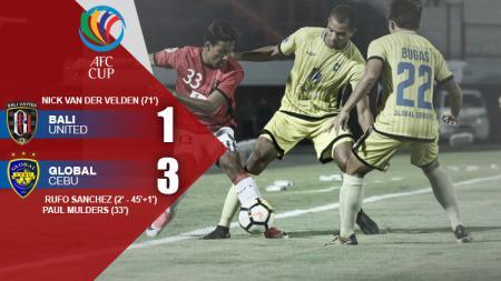 Hasil pertandingan Bali United vs Global Cebu. - INDOSPORT
