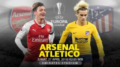 Indosport - Prediksi Arsenal vs Atletico Madrid.