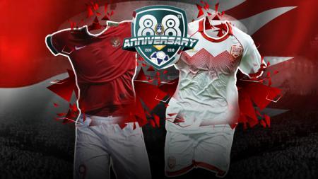 Indonesia vs Bahrain. - INDOSPORT