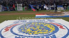 Indosport - Spanduk Arema Indonesia.