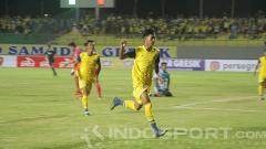 Indosport - Selebrasi Malik Risaldi.
