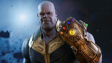 Thanos, karakter penjahat utama dalam film Avengers: Infinity War. - INDOSPORT