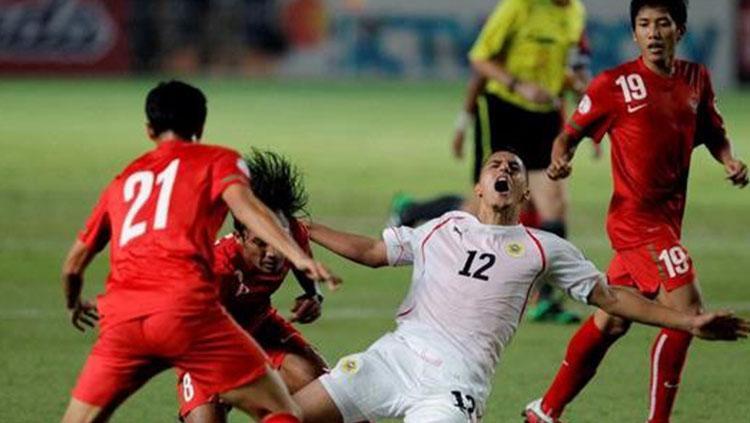 Timnas Indonesia kala dibungkam Bahrain 10-0 di Kualifikasi Piala Dunia 2014. Copyright: Getty Images
