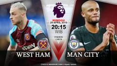 Indosport - Prediksi West Ham United vs Manchester City