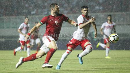 Ilija Spasojevic saat tampil membela Timnas Indonesia melawan Bahrain. - INDOSPORT