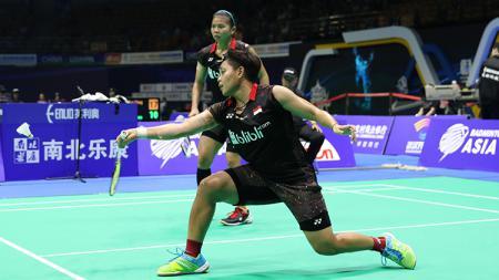 Greysia Polii/Apriyani Rahayu saat tampil Badminton Asia Championships 2018. - INDOSPORT