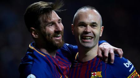 Tak diambang kehancuran, raksasa LaLiga Spanyol, Barcelona masih punya enam pemain masa depan. Diantaranya bahkan titisan Lionel Messi dan Andres Iniesta. - INDOSPORT