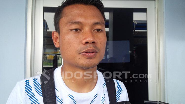 Dedi Kusnandar, pemain Persib. Copyright: INDOSPORT/Arif Rahman