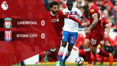 Indosport - Hasil pertandingan Liverpool vs Stoke City.