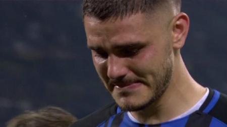 Mauro Icardi menangis saat ditarik keluar oleh Inter - INDOSPORT