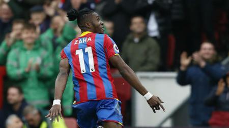 Penyerang Crystal Palace, Wilfried Zaha. - INDOSPORT