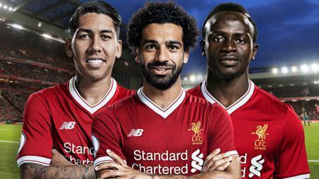 Trio Liverpool Firminho, Salah, dan Mane - INDOSPORT