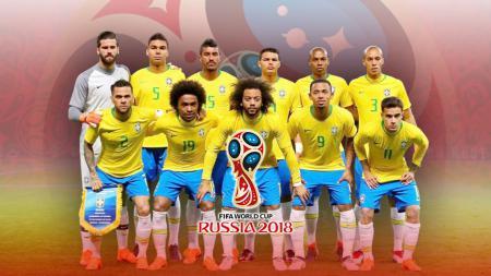 Timnas Football Brasil PD 2018 - INDOSPORT