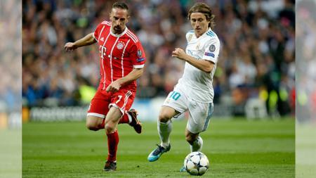 Ribery (kiri), Modric(kanan) - INDOSPORT