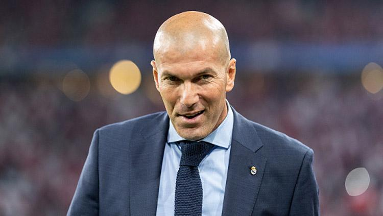 Zinedine Zidane, pelatih Real Madrid. Copyright: INDOSPORT