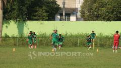 Indosport - Para penggawa PSMS Medan tengah lakukan latihan