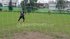 Indosport - Para penggawa PSMS Medan tengah lakukan latihan.
