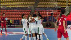 Indosport - Timnas putri Indonesia vs Timnas putri Hongkong.