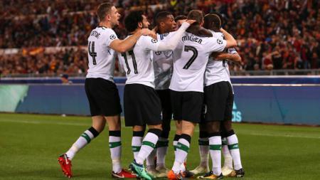 Selebrasi pemain Liverpool - INDOSPORT