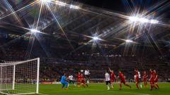 Indosport - Proses Giorginio Wijnaldum mencetak gol lewat sundulannya.