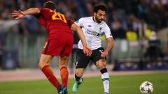Indosport - Mohamed Salah vs AS Roma.
