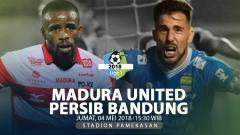 Indosport - Prediksi Madura United vs Persib Bandung.