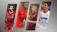 Indosport - Mohamed Salah (Liverpool), Sadio Mane (Liverpool), Edin Dzeko (AS Roma), dan Wissam Ben    Yedder (Sevilla).