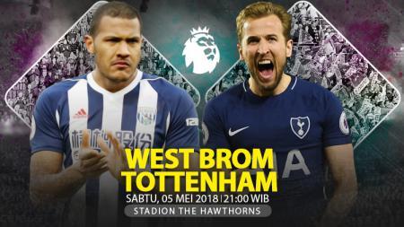 Prediksi West Bromwich Albion vs Tottenham Hotspur. - INDOSPORT