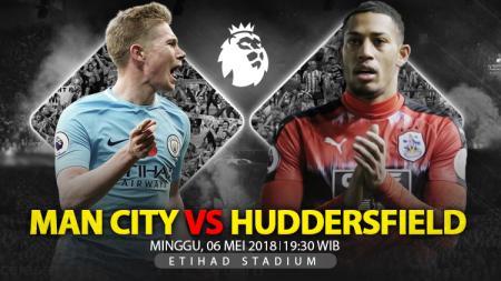 Prediksi Manchester City vs Huddersfield Town. - INDOSPORT