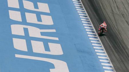 MotoGP musim 2020 kembali diundur setelah MotoGP Spanyol yang akan digelar di Sirkuit Jerez resmi ditunda. - INDOSPORT