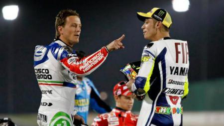 Konflik antara Valentino Rossi dan Sete Gibernau - INDOSPORT
