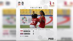 Indosport - Timnas U-16 Putri Indonesia kalahkan Timnas U-16 Kamboja.