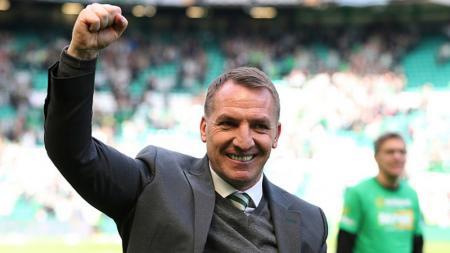 Brendan Rodgers, mantan pelatih Liverpool yang kini menjadi juru taktik Celtic. - INDOSPORT