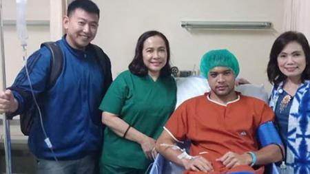 Andritany Ardhiyasa  selepas di operasi. - INDOSPORT