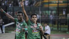 Indosport - Selebrasi pemain PSMS Medan.