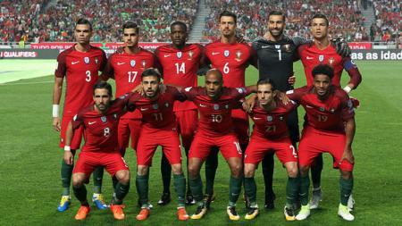 Skuat Timnas Portugal di babak kualifikasi Piala Dunia 2018. - INDOSPORT