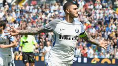 Indosport - Aksi selebrasi Mauro Icardi.