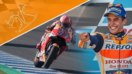 Marc Marquez berhasil keluar sebagai juara pertama di MotoGP Spanyol 2018. - INDOSPORT