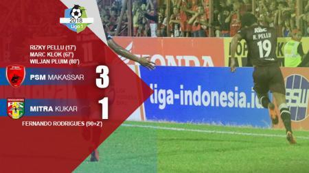 6 Mei 2018, PSM Makassar melakoni sebuah laga Liga 1 kontra Mintra Kukar, dimana duet maut Ferdinand Sinaga dan Willjan Pluim sukses sumbang 3 poin. - INDOSPORT