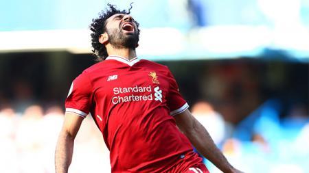 Reaksi Mohamed Salah. - INDOSPORT