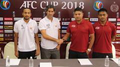 Indosport - Home United vs Persija Jakarta dalam jumpa pers.