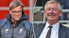 Indosport - Jurgen Klopp dan Sir Alex Ferguson.