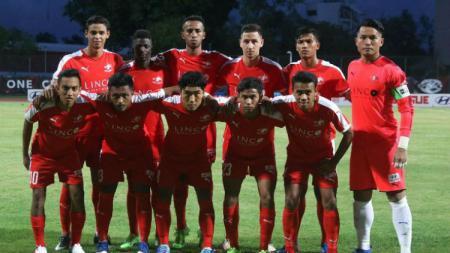 Skuat Home United yang akan menghadapi PSM Makassar di Piala AFC 2019. - INDOSPORT